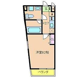 オランジュ上小阪[2階]の間取り