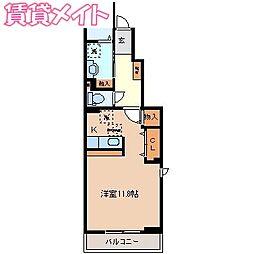 三岐鉄道北勢線 楚原駅 徒歩8分の賃貸アパート 1階1Kの間取り