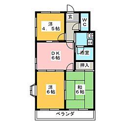 サンライト藤宮[3階]の間取り