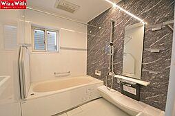 梅雨時のお洗濯にも便利な浴室換気乾燥機付