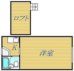 東京都板橋区高島平5丁目の賃貸アパートの間取り