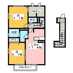 ゴード ルミナス[2階]の間取り