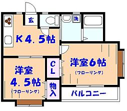 Jハウス[2階]の間取り