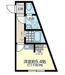神奈川県横浜市中区山元町5丁目の賃貸アパートの間取り