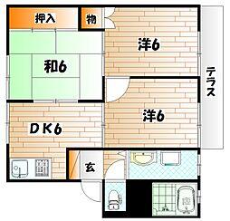 グレイスK A棟[1階]の間取り
