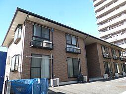 東京都福生市武蔵野台2丁目の賃貸アパートの外観