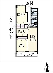 グラン・アベニュー富船[10階]の間取り