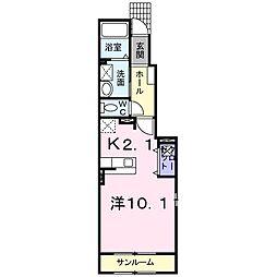 ジェントリ−シ−ズン II[0101号室]の間取り