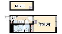 愛知県名古屋市昭和区曙町2丁目の賃貸アパートの間取り