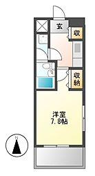 ライオンズマンション泉第2[8階]の間取り