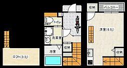 Gran Meinohama 1階1Kの間取り