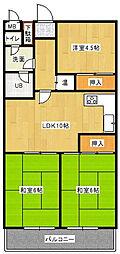 ライオンズマンション赤坂[2階]の間取り