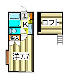 MSSレジデンス[2階]の間取り