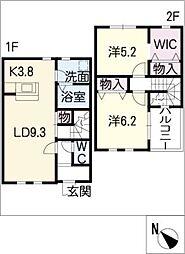 [タウンハウス] 愛知県江南市宮後町砂場北 の賃貸【/】の間取り