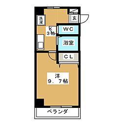 プロビデンス泉III[3階]の間取り
