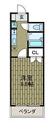 新百合グリーンハウス[1階]の間取り
