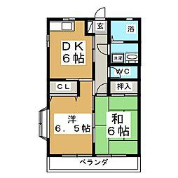コーポ後藤C[1階]の間取り