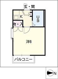アビタシオン観音寺[1階]の間取り