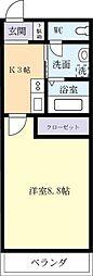 茨城県つくば市高見原1丁目の賃貸マンションの間取り