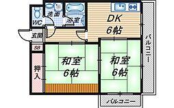 サンロードNo.3[3階]の間取り