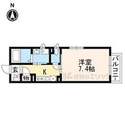 シャーメゾン深草(NO.5343) 2階1Kの間取り