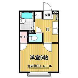 プレシールヤマニ[1-H号室]の間取り