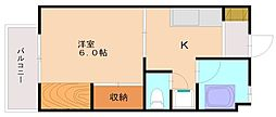福岡県福岡市南区高宮5丁目の賃貸マンションの間取り