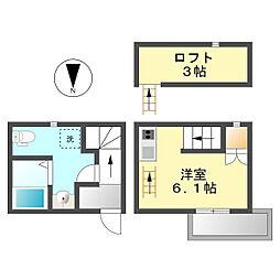 愛知県清須市上条1丁目の賃貸アパートの間取り