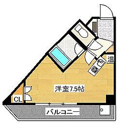 キャンパスシティ太宰府[423号室]の間取り
