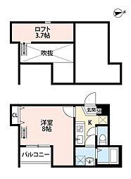 メゾングレース新松戸[302号室号室]の間取り