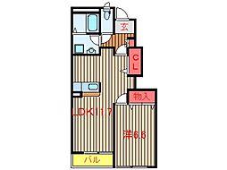千葉県八千代市吉橋の賃貸アパートの間取り