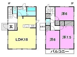 [一戸建] 愛媛県松山市枝松1丁目 の賃貸【/】の間取り