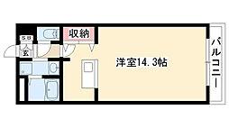 愛知県日進市竹の山2丁目の賃貸マンションの間取り