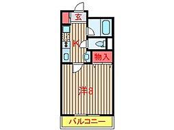ファミール新木戸[306号室]の間取り