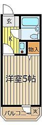 埼玉県ふじみ野市鶴ケ岡2丁目の賃貸マンションの間取り
