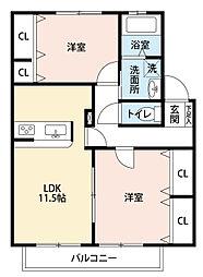 D-アーバン大栄[2階]の間取り