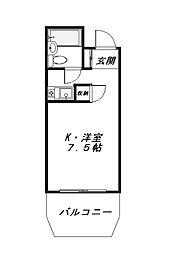 トレンタハウス八王子[5階]の間取り