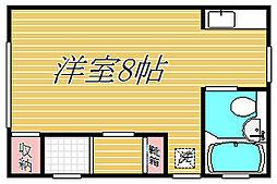 東京都世田谷区池尻4丁目の賃貸アパートの間取り