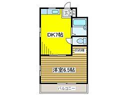 タクジム高野[2階]の間取り