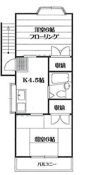 堀野様方[2階号室]の間取り