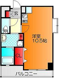 パラッツォ プリマウ゛ェーラ 4階ワンルームの間取り