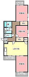 静岡県浜松市南区芳川町の賃貸マンションの間取り