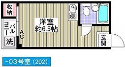 寄川マンション[202号室]の間取り