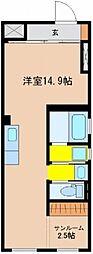vivoH[106号室]の間取り