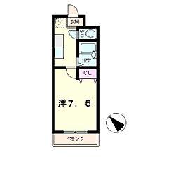 エクセルナカムラ[2階]の間取り