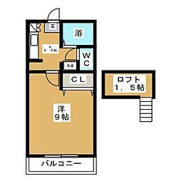 ノーブル1217[2階]の間取り