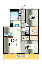 エクウス[3階]の間取り