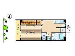 東京都大田区池上3丁目の賃貸マンションの間取り