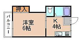 サンフラワー板付E[1階]の間取り