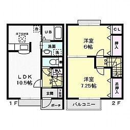 エクセルハイツN[2階]の間取り